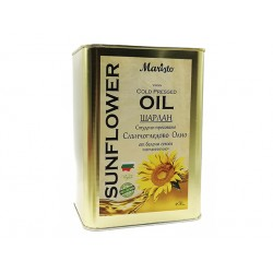 Sunflower oil, virgin, cold pressed, Maristo, 3 liters