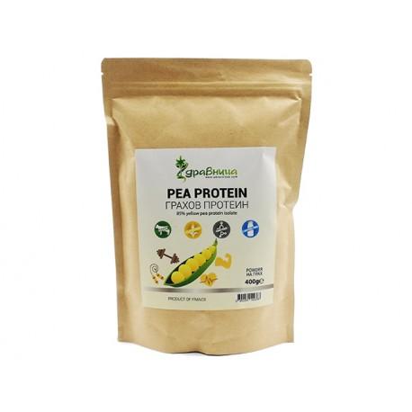 Pea Protein powder, from yellow peas, Zdravnitza, 400 g