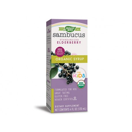 Sambucus Kids, Standardized Elderberry, Nature's Way, 120 ml