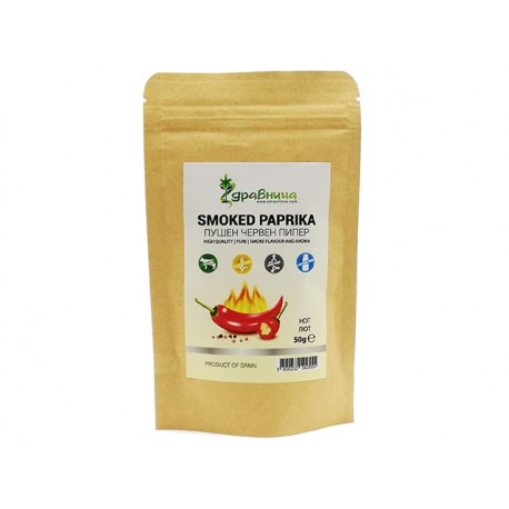 Smoked paprika, hot, powder, Zdravnitza, 50 g