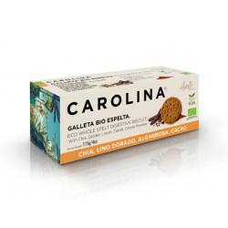 БИО бисквити от лимец с чиа, рожков и златен лен, Каролина, 115 гр.