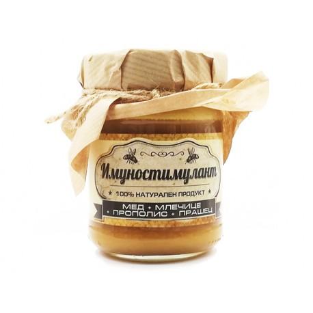 Имуностимулант - мед, млечице, прополис, прашец, Амброзия, 240 гр.