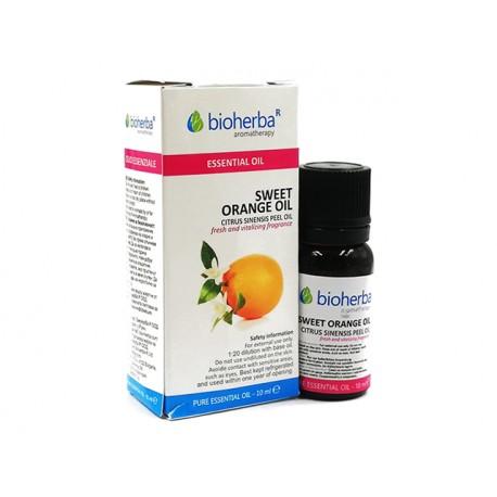 Sweet Orange, essential oil, Bioherba, 10 ml