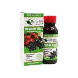 Immuno Vital, syrup with elderberry, rosehip and zinc, 125 ml