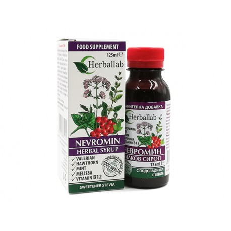 Nevromin, soothing herbal syrup, Herballab, 125 ml