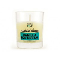 Massage candle - vanilla ice cream, for erotic massage, Sezmar, 100 ml