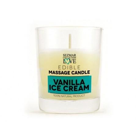 Масажна свещ - ванилов сладолет, за еротичен масаж, Сезмар, 100 мл.