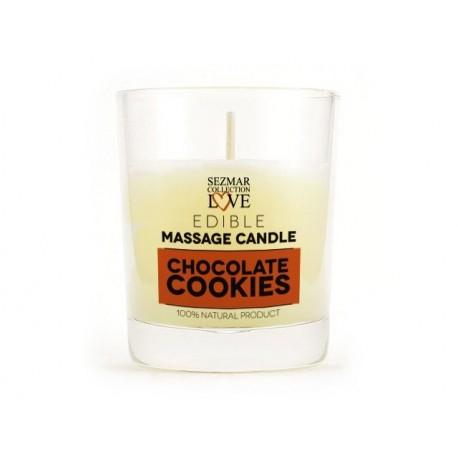 Масажна свещ - шоколадови бисквити, за еротичен масаж, Сезмар, 100 мл.