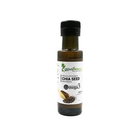 Chia seed oil, cold pressed, Zdravnitza, 100 ml