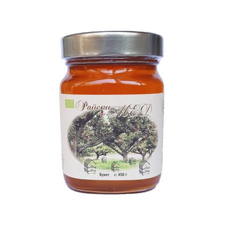 Райски Мед, БИО пчелен мед - Букет, 450 гр.