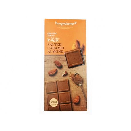 БИО Бял кокосов шоколад с бадеми, веган, Бенямисимо, 70 гр.