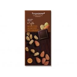 БИО Шоколад с бадеми и черници, веган, Бенямисимо, 70 гр.