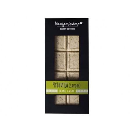 БИО Бял шоколад с чубрица, веган, Бенямисимо, 60 гр.