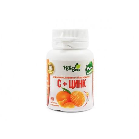 Витамин С и Цинк, Никсен, 60 таблетки за смучене