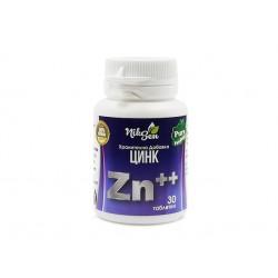 Цинк, хранителна добавка, Никсен, 30 таблетки