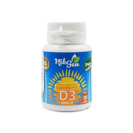 Vitamin D3, 5000 IU, Niksen, 30 tablets
