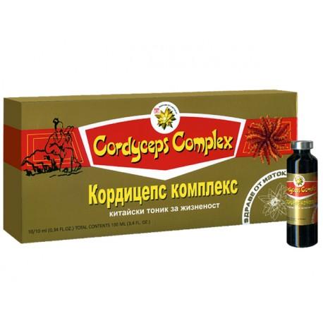 Корицепс Комплекс, китайски тоник за жизненост, ТНТ21, 10 флакона