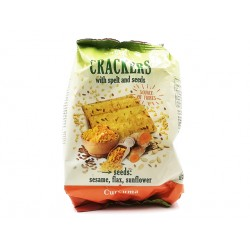 Crackers with spelt and seeds, turmeric, Yammy Yo, 110 g