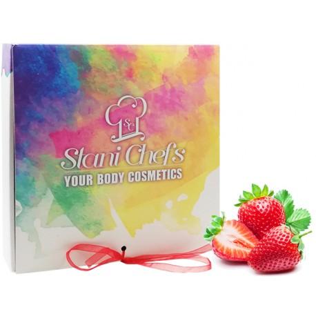 """Подаръчен комплект """"Храна за тяло"""" - ягодов мус"""