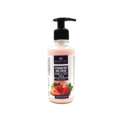 Hand and Foot cream - Strawberry and cream, Hristina, 250 ml