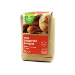 Бяло пшенично брашно, Екосем, 1 кг.