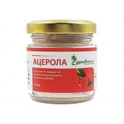 Ацерола, на прах, натурален Витамин С, Здравница, 60 гр.