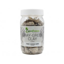 Natural Gray-Green Clay, lumps, Zdravnitza, 350 g