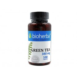Green tea, metabolism support, Bioherba, 100 capsules
