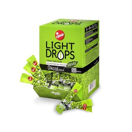 Light Drops, liquid sweetener with Stevia, EPSA, 50 sticks