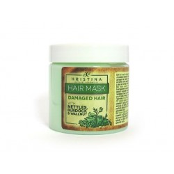 Hair mask for damaged hair with Nettle, Walnut and Burdock, Hristina, 200 ml