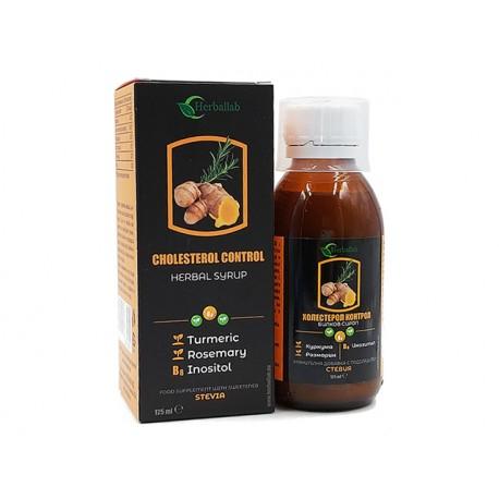 Cholesterol Control - herbal syrup, Herballab, 125 ml
