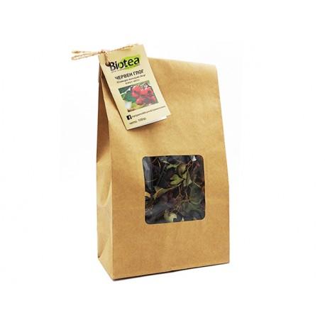 Червен Глог - плод с листа, Биотеа, 100 гр.