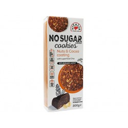 Super Cookies with Nuts and Cocoa coating, Vitalia, 200 g