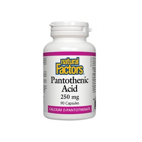 Pantothenic acid (vitamin B5), Natural Factors, 90 capsules