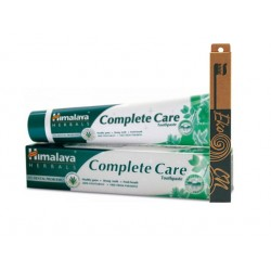 Комплект - паста за цялостна грижа и бамбукова четка, Хималая, 1 бр.