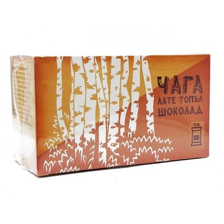 Chaga Late, hot chocolate with Chaga and Stevia, Verde Vita, 12 sachets