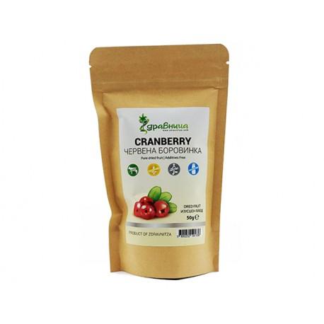 Cranberry, pure dried fruit, Zdravniza, 50 g