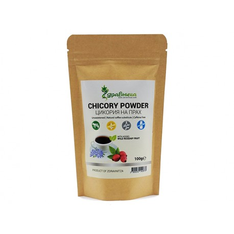 Chicory with wild rosehip fruit, coffee substitute, Zdravnitza, 100 g