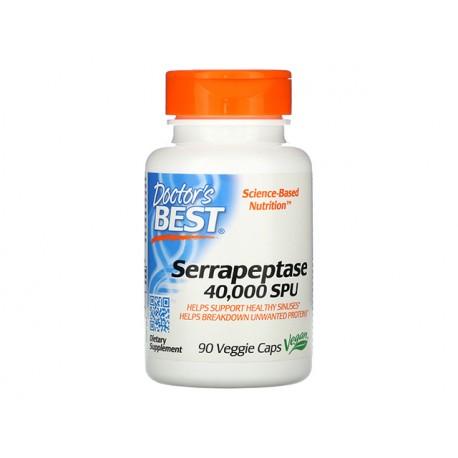 Serrapeptase 40 000 SPU, Doctor's Best, 90 capsules
