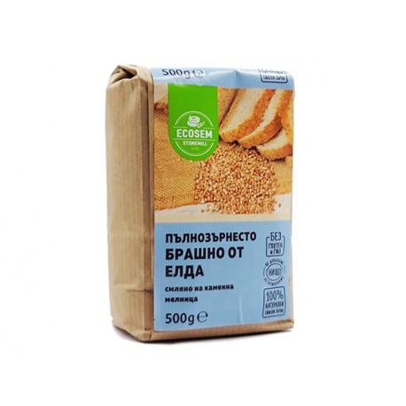 Натурално пълнозърнесто брашно от елда, Екосем, 500 гр.