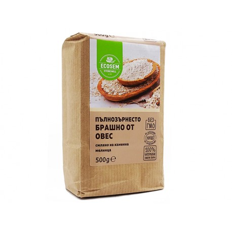 Wholemeal oat flour, Ecosem, 500 g