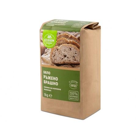 White rye flour, Ecosem, 1 kg