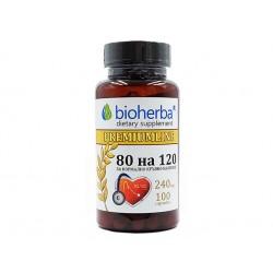 80 на 120, при високо кръвно, Биохерба, 100 капсули