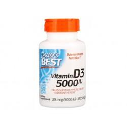 Витамин D3, 5000 IU, Д-р Бест, 180 капсули