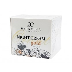 Night face cream with gold particles, Hristina, 50 ml