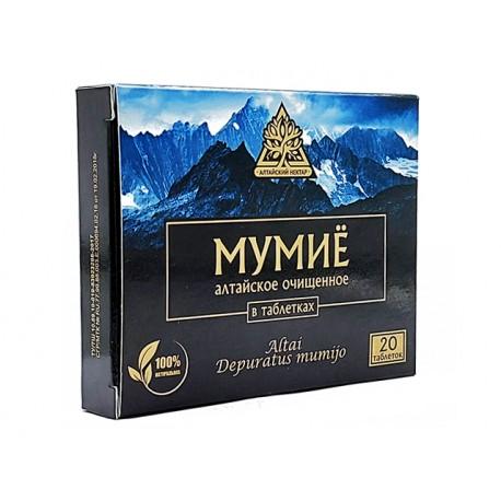 Алтайско, пречистено Мумийо (Шилажит), Алтайский Нектар, 20 таблетки