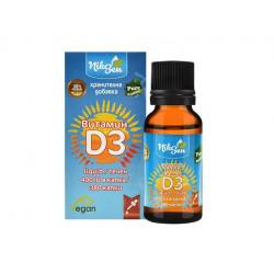 Vitamin D3, liquid, 400 IU in drop, Niksen, 20 ml