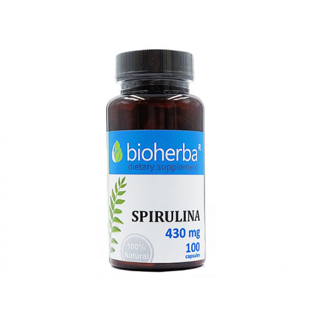 Spirulina, Bioherba, 100 capsules