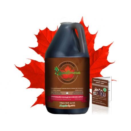Оригинален канадски кленов сироп - 4 литра