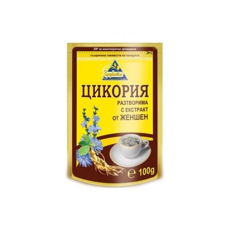 Цикория, разтворима с жен шен - 100 гр.